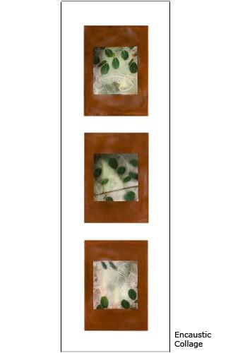 Sienna Triptych framed 36x13