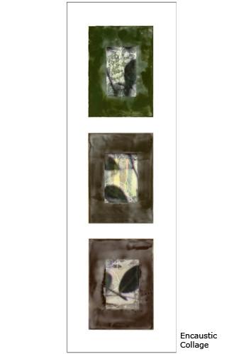 Evening Triptych framed 36x13