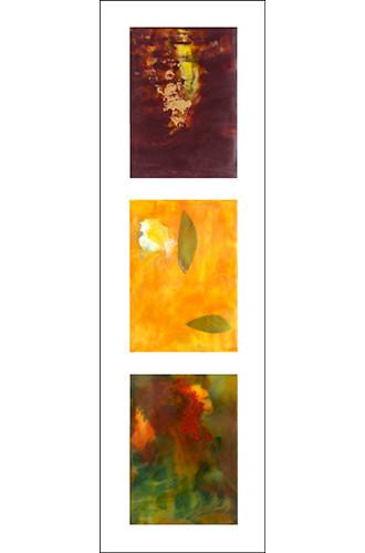 Autumn Triptych framed 36x13.5